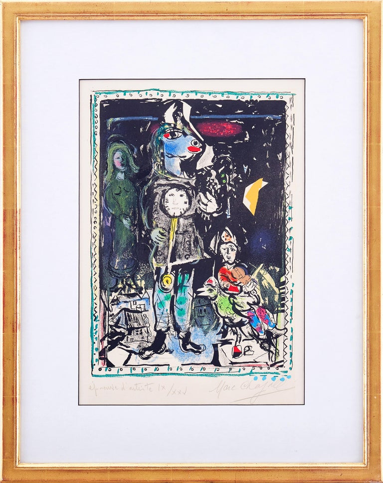 Marc Chagall - Farmer with a Clock - Original Lithograph 9