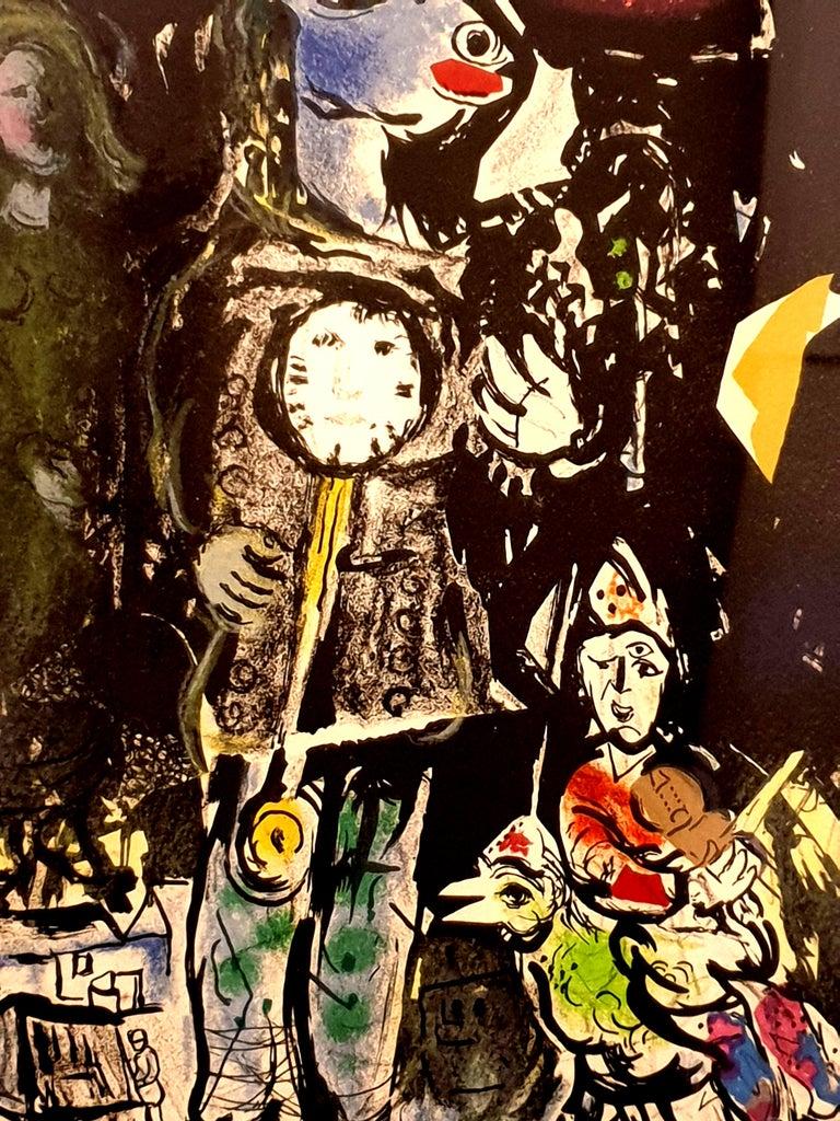 Marc Chagall - Farmer with a Clock - Original Lithograph 10