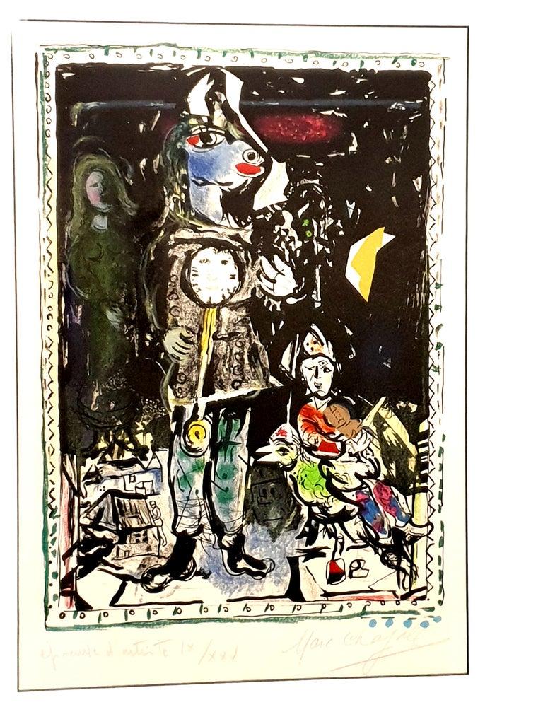 Marc Chagall - Farmer with a Clock - Original Lithograph 1