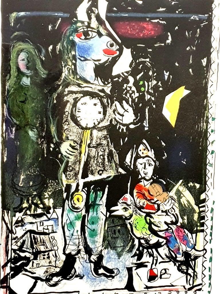 Marc Chagall - Farmer with a Clock - Original Lithograph 2