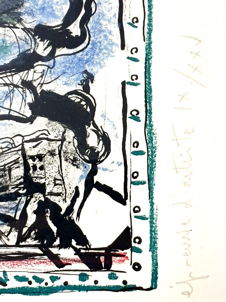 Marc Chagall - Farmer with a Clock - Original Lithograph 3