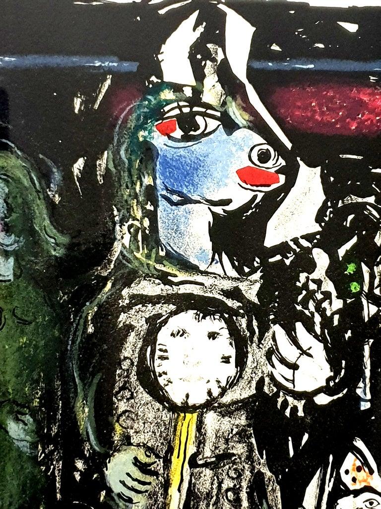 Marc Chagall - Farmer with a Clock - Original Lithograph 5