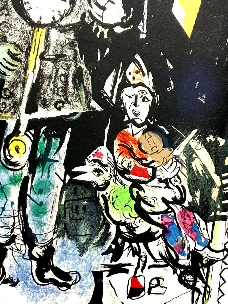 Marc Chagall - Farmer with a Clock - Original Lithograph 6