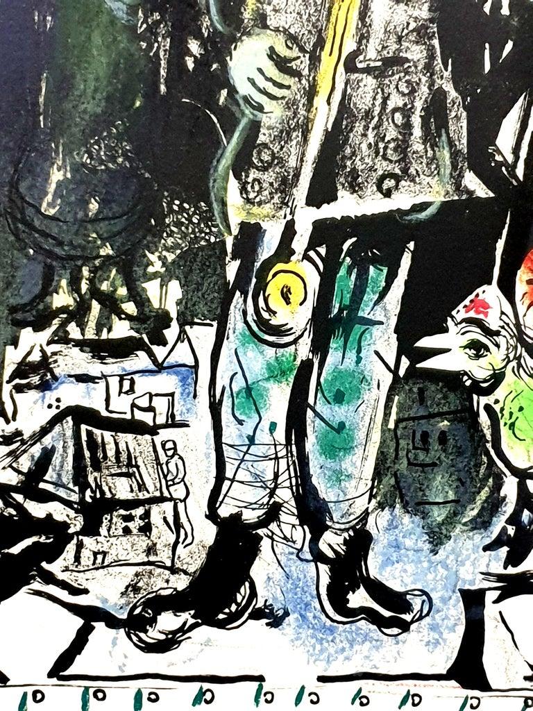 Marc Chagall - Farmer with a Clock - Original Lithograph 7