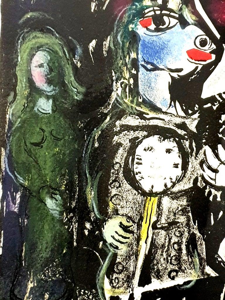 Marc Chagall - Farmer with a Clock - Original Lithograph 8