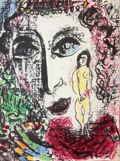 """Marc Chagall, """"Frontispiece - Apparition at the Circus"""", Lithograph, 1963"""