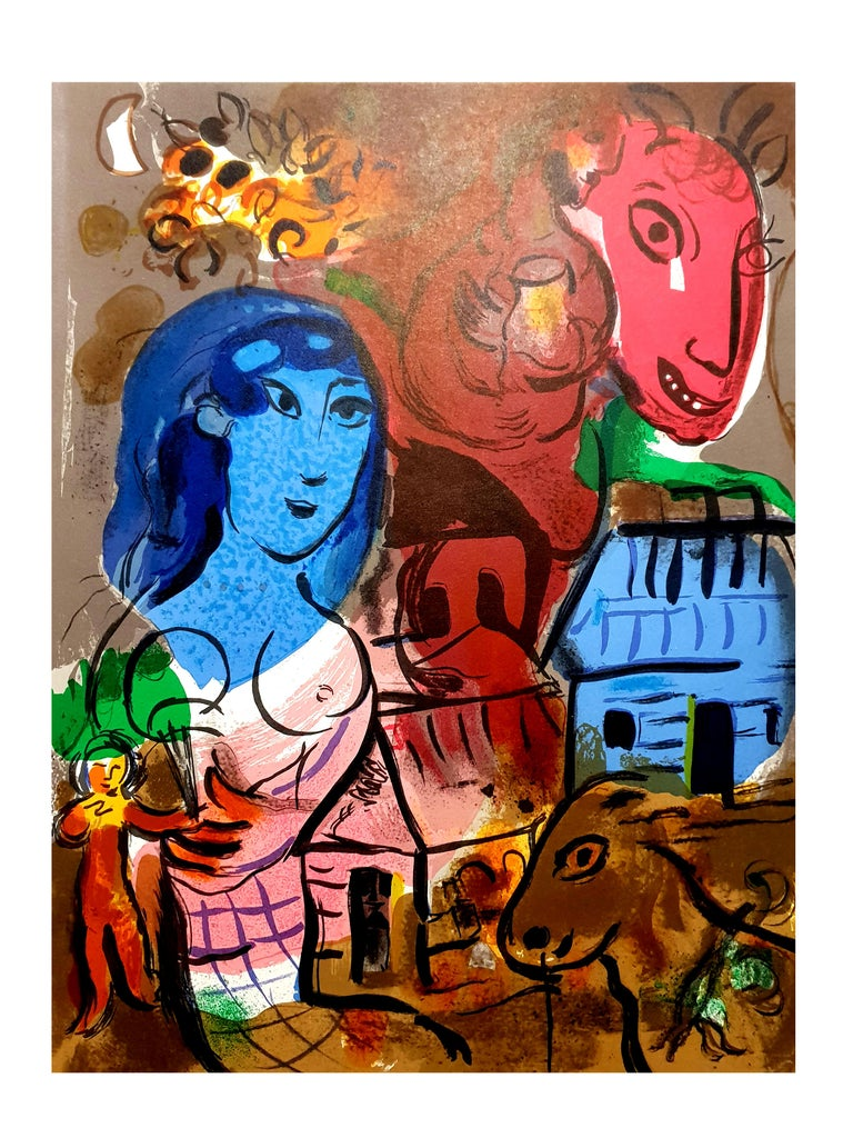 Marc Chagall - Homage to Marc Chagall - Original Lithograph For Sale 2