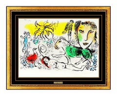 Marc Chagall Homecoming XXE Siecle Color Lithograph Nude Female Modernism Art