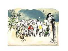 Marc Chagall - Hommage à Julien Cain - Original Lithograph