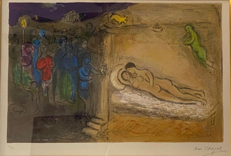 """Marc Chagall, """"Hymen"""", original lithograph, hand signed - Print by Marc Chagall"""
