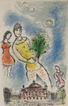 """Marc Chagall, """"In the Sky of the Opera"""", original lithograph"""