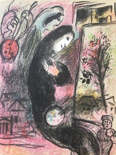 """Marc Chagall, """"Inspired"""", Lithograph, 1963"""