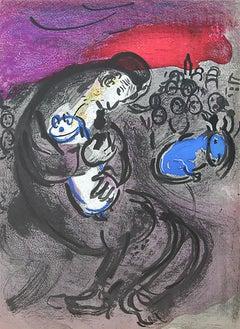"Marc Chagall, ""Jeremiah's Lamentations"", Original Lithograph, 1956"