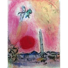 Marc Chagall - La Place de la Concorde - Original Lithograph