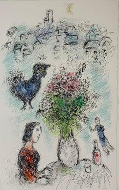 """Marc Chagall, """"Le Bouquet Rose"""", original lithograph"""