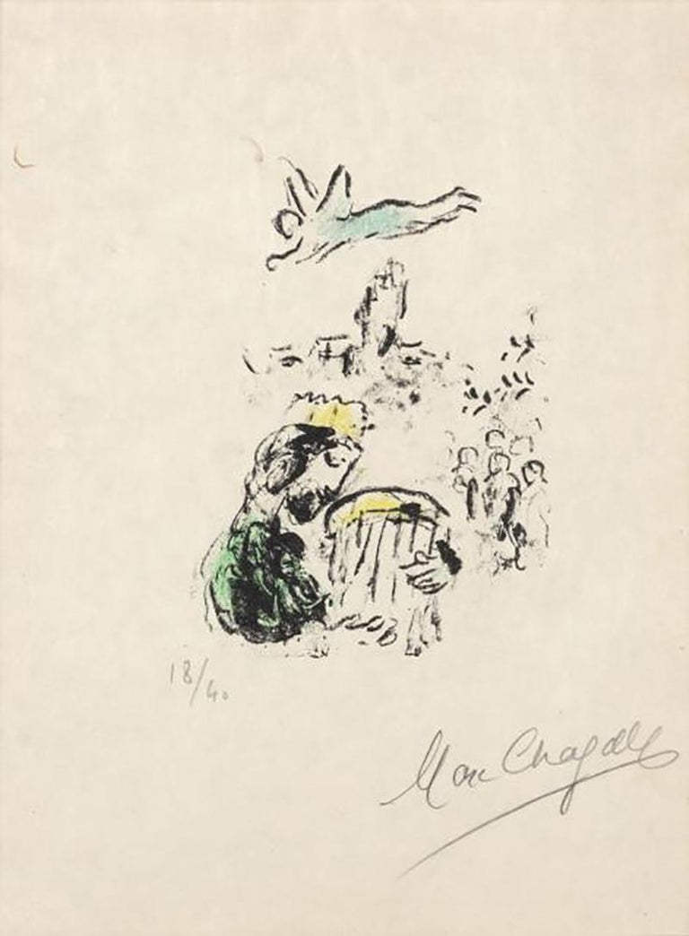 MARC CHAGALL  LE ROI DAVID  1974 SIGNED AND NUMBERED - Print by Marc Chagall