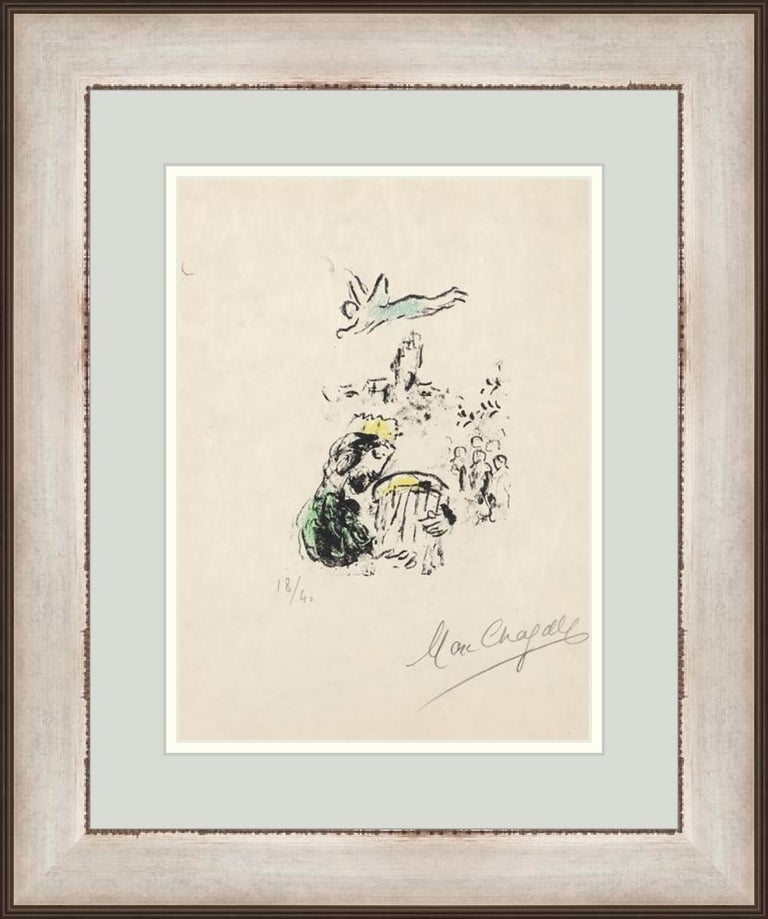 Marc Chagall Print - MARC CHAGALL  LE ROI DAVID  1974 SIGNED AND NUMBERED