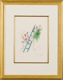 """Marc Chagall, """"L'echelle (The Ladder)"""" 1957, (73/90)"""