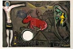 Marc Chagall lithograph Derrière le miroir