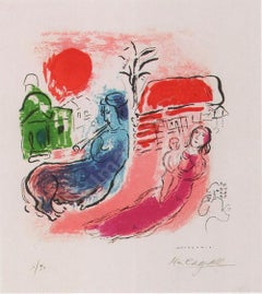 """Marc Chagall """"Maternity with Centaur"""", 1957 Lithograph Signed & Numbered M-195"""