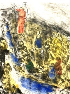 Marc Chagall - Moses Striking Water from the Rock - Original Handsigned Etching