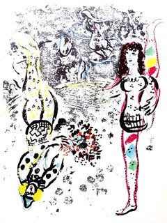 "Le Jeu des Acrobates, original lithograph from ""Chagall Lithographe II"""