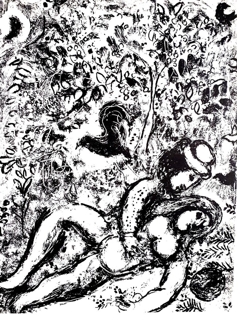 Marc Chagall - Lovers Under a Tree - Original Lithograph - Print by Marc Chagall