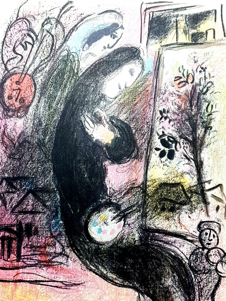 "Marc Chagall - Inspiration - Original Lithograph from ""Chagall Lithographe"" v. 2 - Print by Marc Chagall"