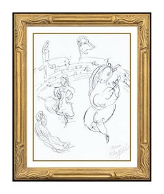 Marc Chagall Lithograph Hand Signed Ceiling Paris Opera