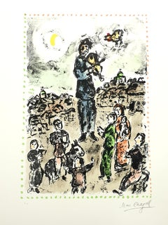 Marc Chagall - Plaza Concert - Original Handsigned Lithograph