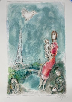 "Marc Chagall, ""Red Maternity"", original lithograph, hand signed"