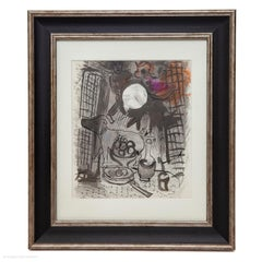 Marc Chagall Still Life with Fruits 1957 Original Lithograph Mourlot 205