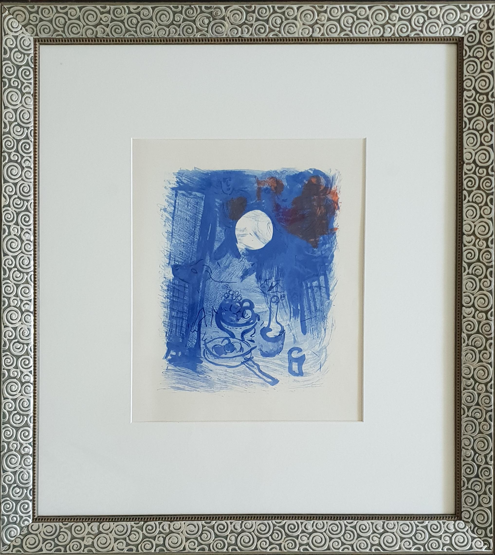 Marc Chagall Stillleben in Blau ( Natur morte bleue ), from Derrière le Miroir