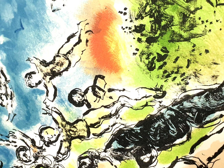 Marc Chagall - Summer's Dream - Original Handsigned Lithograph For Sale 6