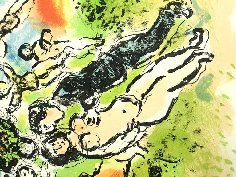 Marc Chagall - Summer's Dream - Original Handsigned Lithograph For Sale 7