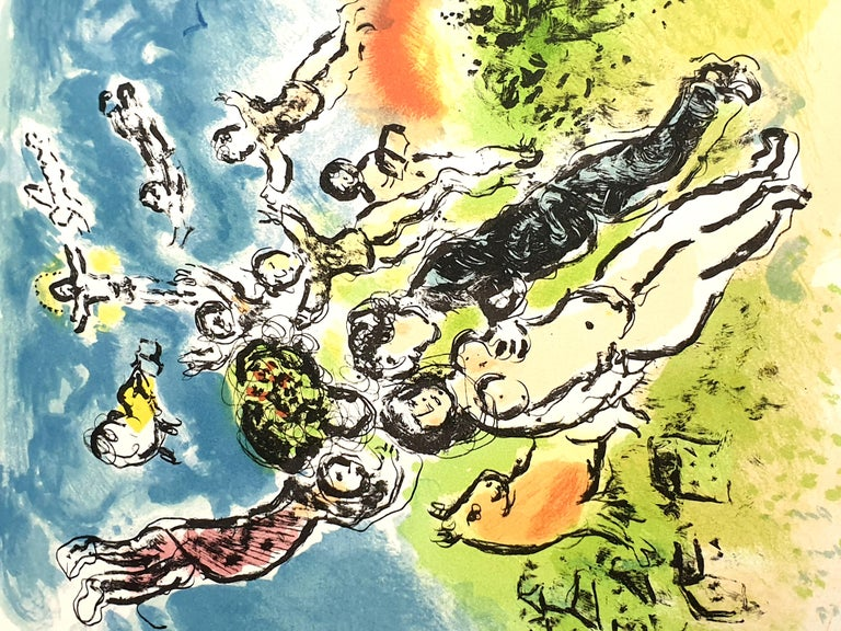 Marc Chagall - Summer's Dream - Original Handsigned Lithograph For Sale 1