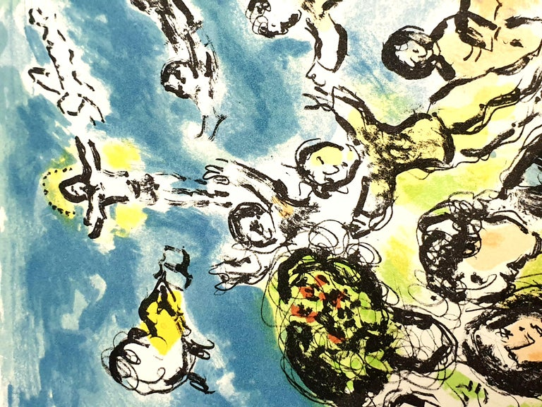 Marc Chagall - Summer's Dream - Original Handsigned Lithograph For Sale 2