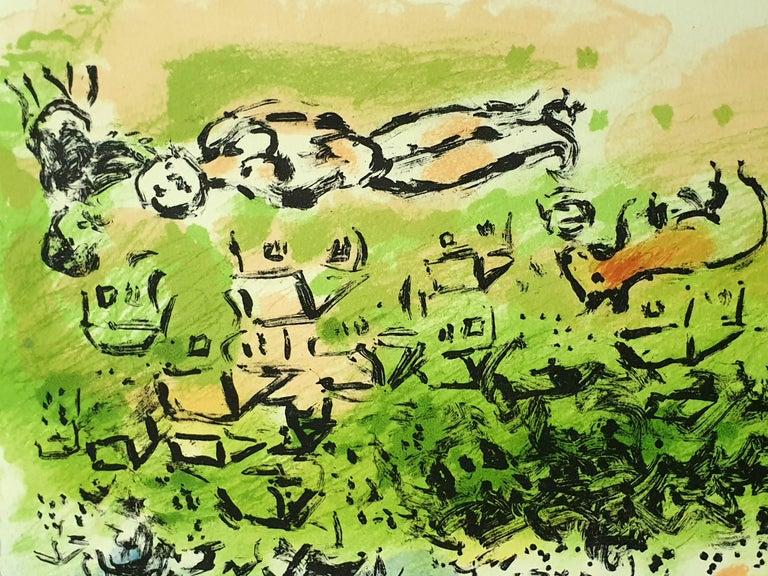 Marc Chagall - Summer's Dream - Original Handsigned Lithograph For Sale 3
