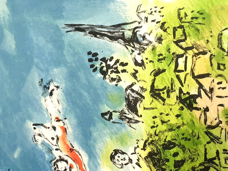Marc Chagall - Summer's Dream - Original Handsigned Lithograph For Sale 4