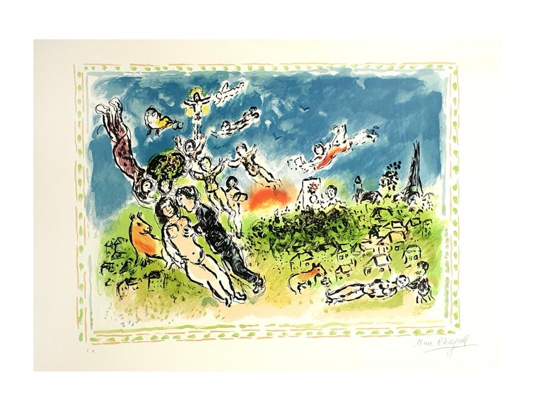 Marc Chagall - Summer's Dream - Original Handsigned Lithograph - Print by Marc Chagall