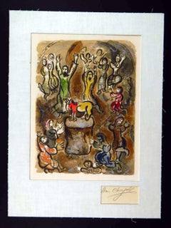 "Marc Chagall ""The Adoration of the Golden Calf"""