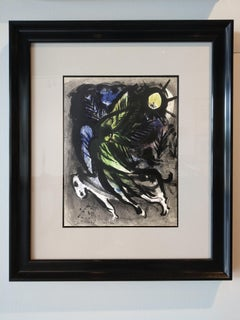 "Marc Chagall, ""The Angel"", Lithograph, 1960"