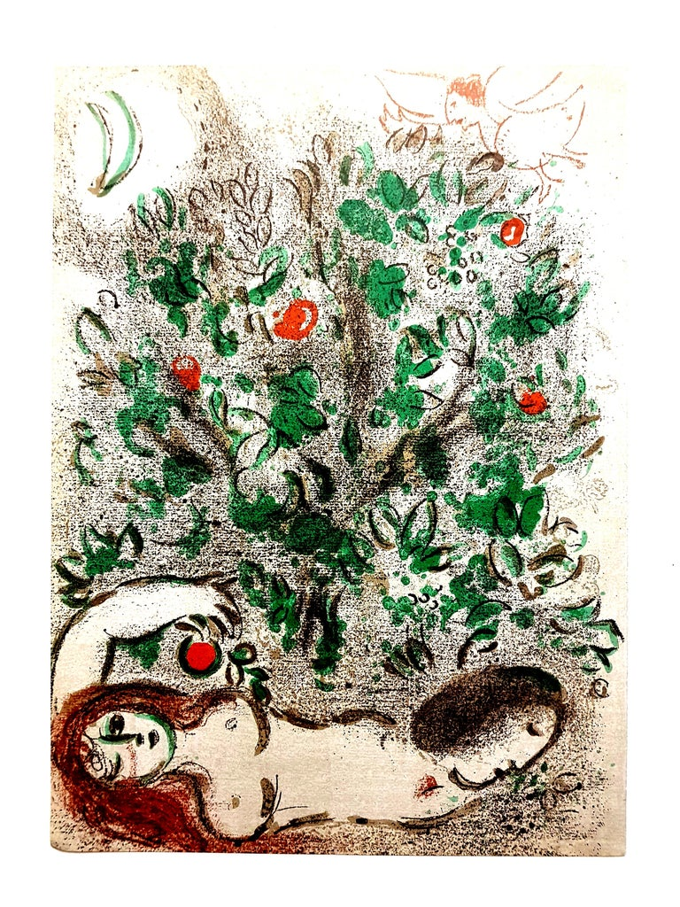 Marc Chagall - Paradise - Original Lithograph For Sale 2