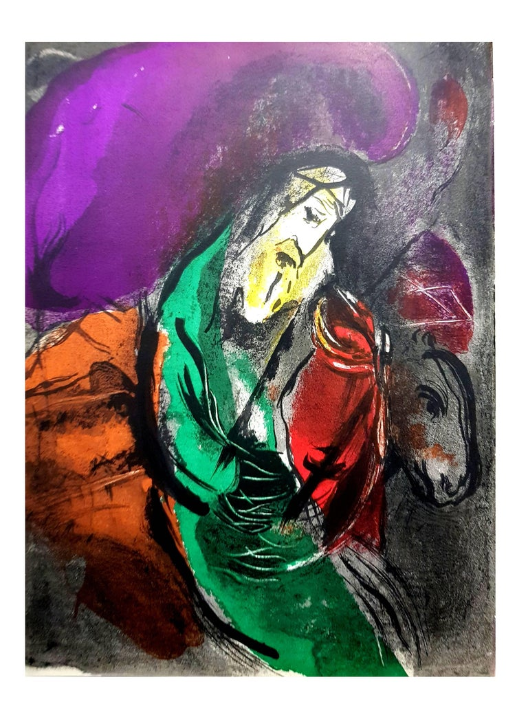 Marc Chagall - The Bible - Original Lithograph For Sale 3
