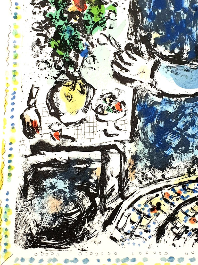 Marc Chagall - The Blue Workshop - Original Handsigned Lithograph For Sale 3