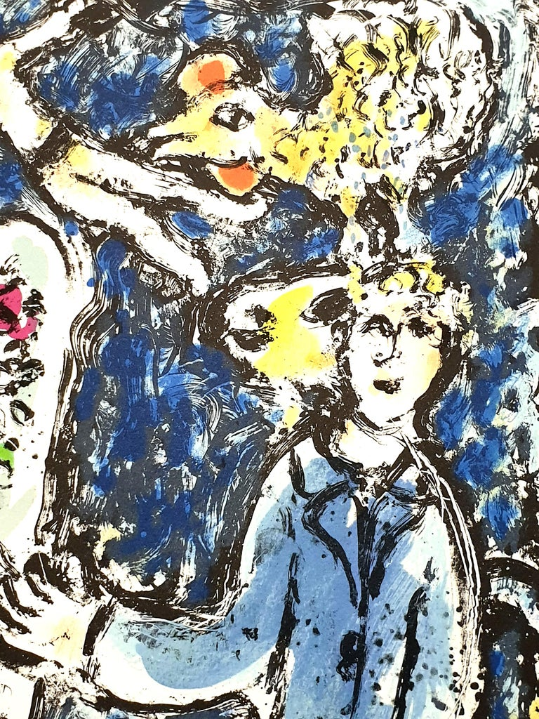 Marc Chagall - The Blue Workshop - Original Handsigned Lithograph For Sale 4