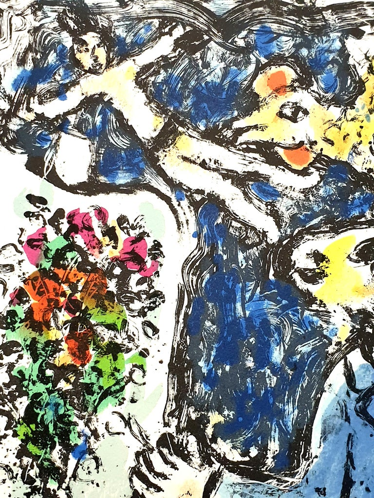 Marc Chagall - The Blue Workshop - Original Handsigned Lithograph For Sale 5