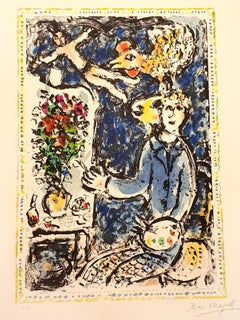 Marc Chagall - The Blue Workshop - Original Handsigned Lithograph