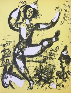 "Marc Chagall, ""The Circus"", Original Color Lithograph, 1960"