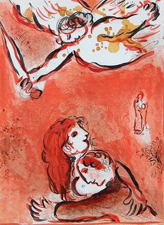 "Marc Chagall, ""The Face of Israel"", Lithograph,1960"
